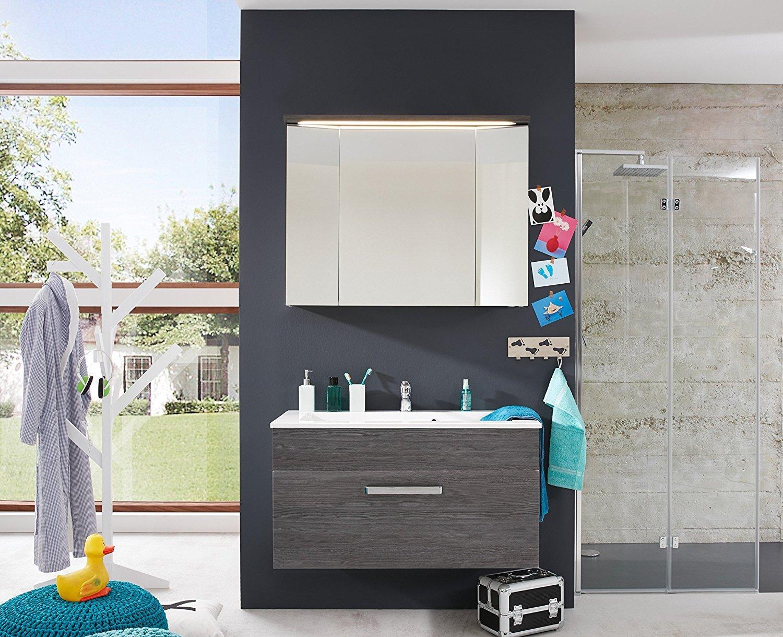 Einzigartig Schrank Für Bad Referenz Von Waschbecken Unterschrank Adamo Rauchsilber Badezimmer Waschbecken