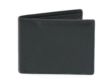 Ledergeldbörse Portemonnaie Geldbeutel Brieftasche Etui Echtes Leder schwarz