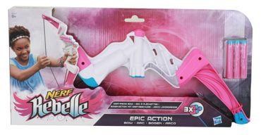 Nerf Rebelle Epic Action Bogen Blaster Pfeile Mädchen Spielzeug Schiessen rosa
