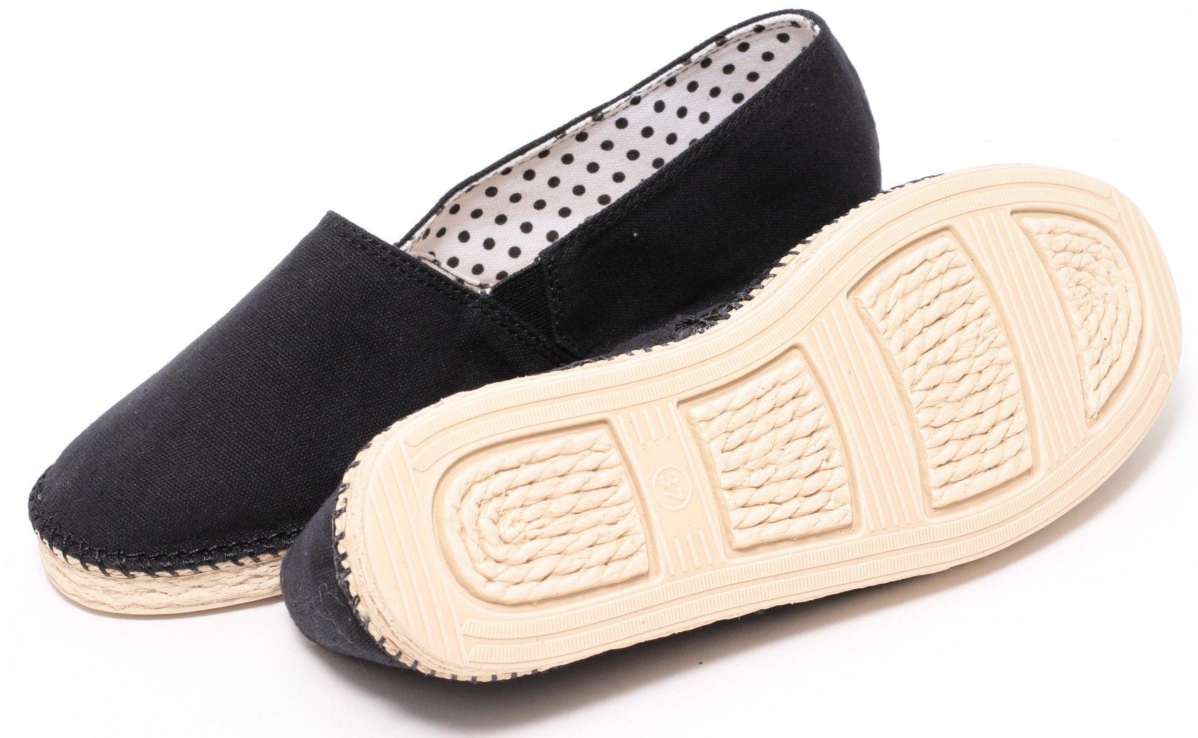 separation shoes e5df0 cf772 Damen Mädchen Sommer Slipper Gr. 37-41 Stoffschuhe Pantolette Sandale  schwarz
