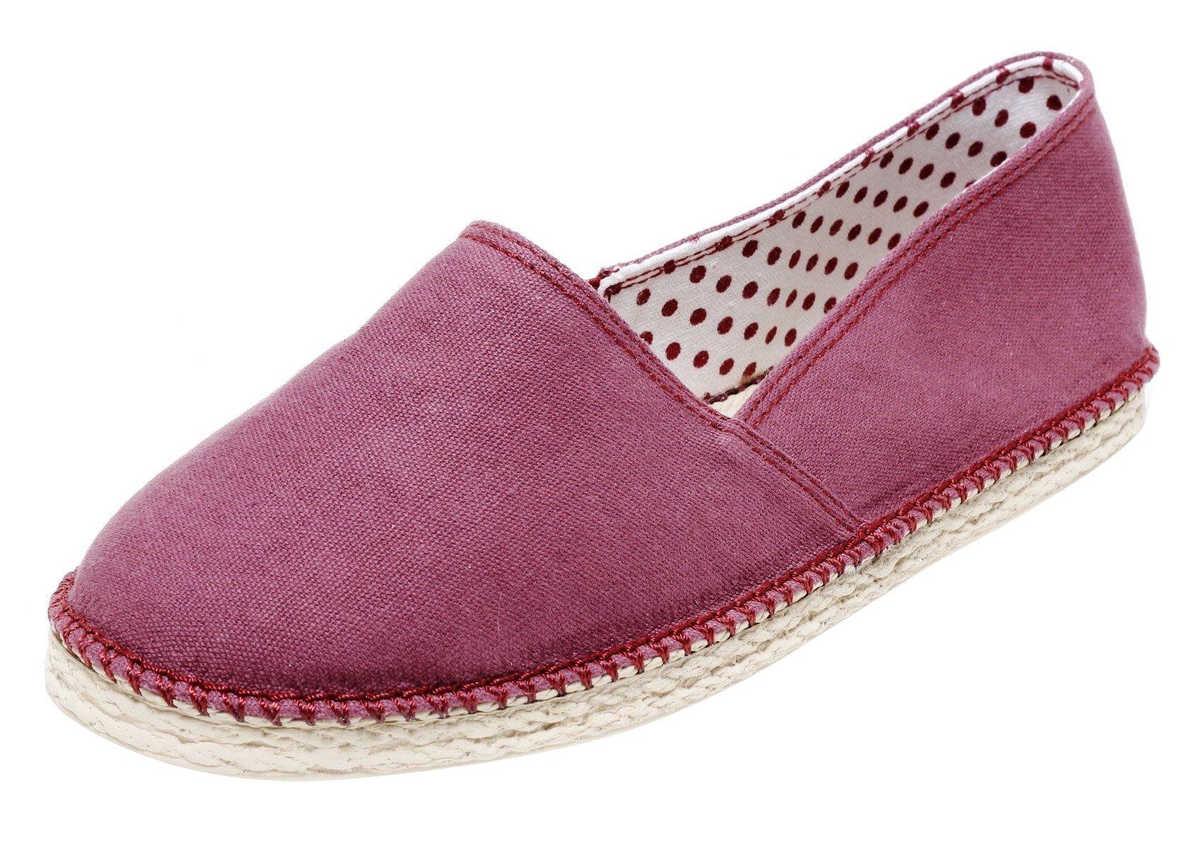 separation shoes 283b6 61b8c Mädchen Damen Sommer Slipper Stoffschuhe Gr.37-41 Espadrilles Pantolette  rot | dynamic-24.de