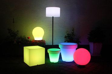 Leco LED Gartenleuchte Würfel 40cm Farbwechsel Lampe Garten Beleuchtung Leuchte