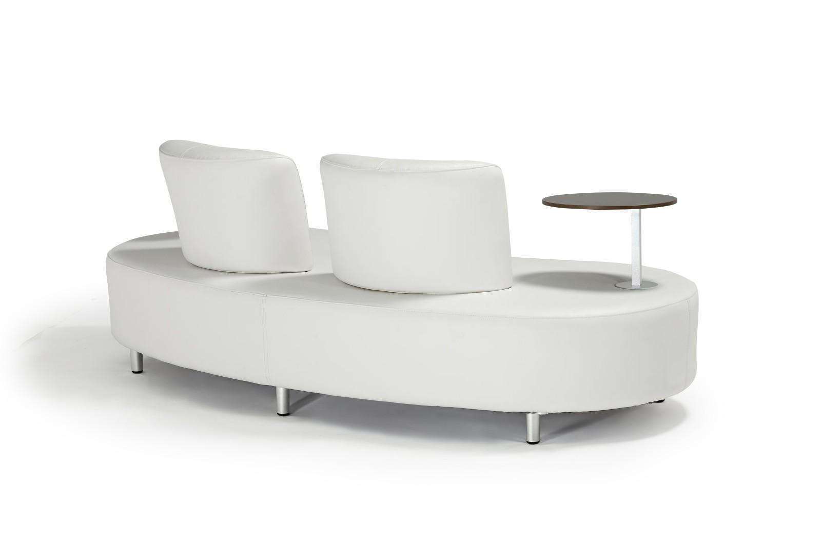 Sofa AALBORG mit 2 Tischen Couch Gartenmöbel Garten Kunstleder ...