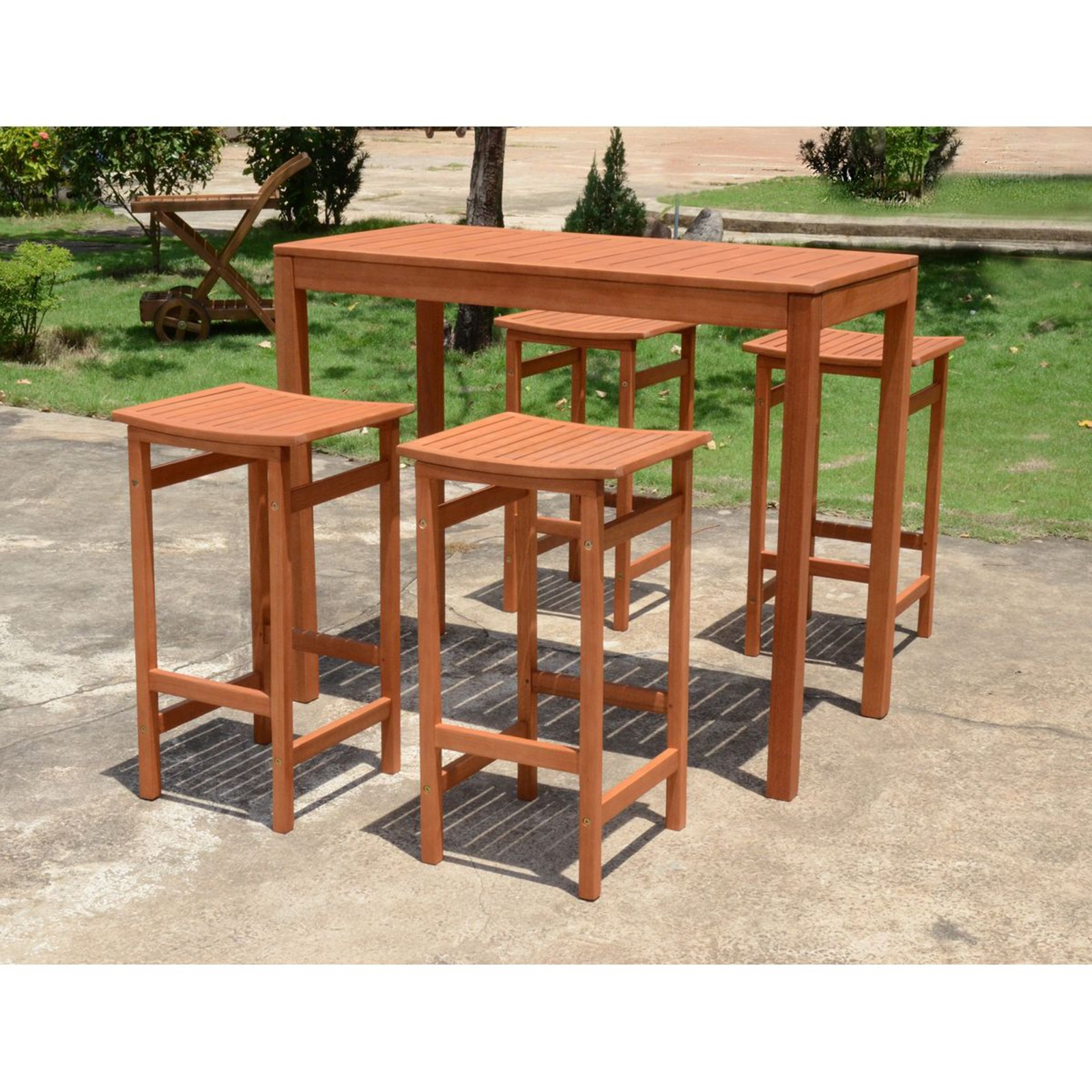 bar set bartisch barhocker garnitur sitzgruppe holz garten hocker stuhl tisch ebay. Black Bedroom Furniture Sets. Home Design Ideas