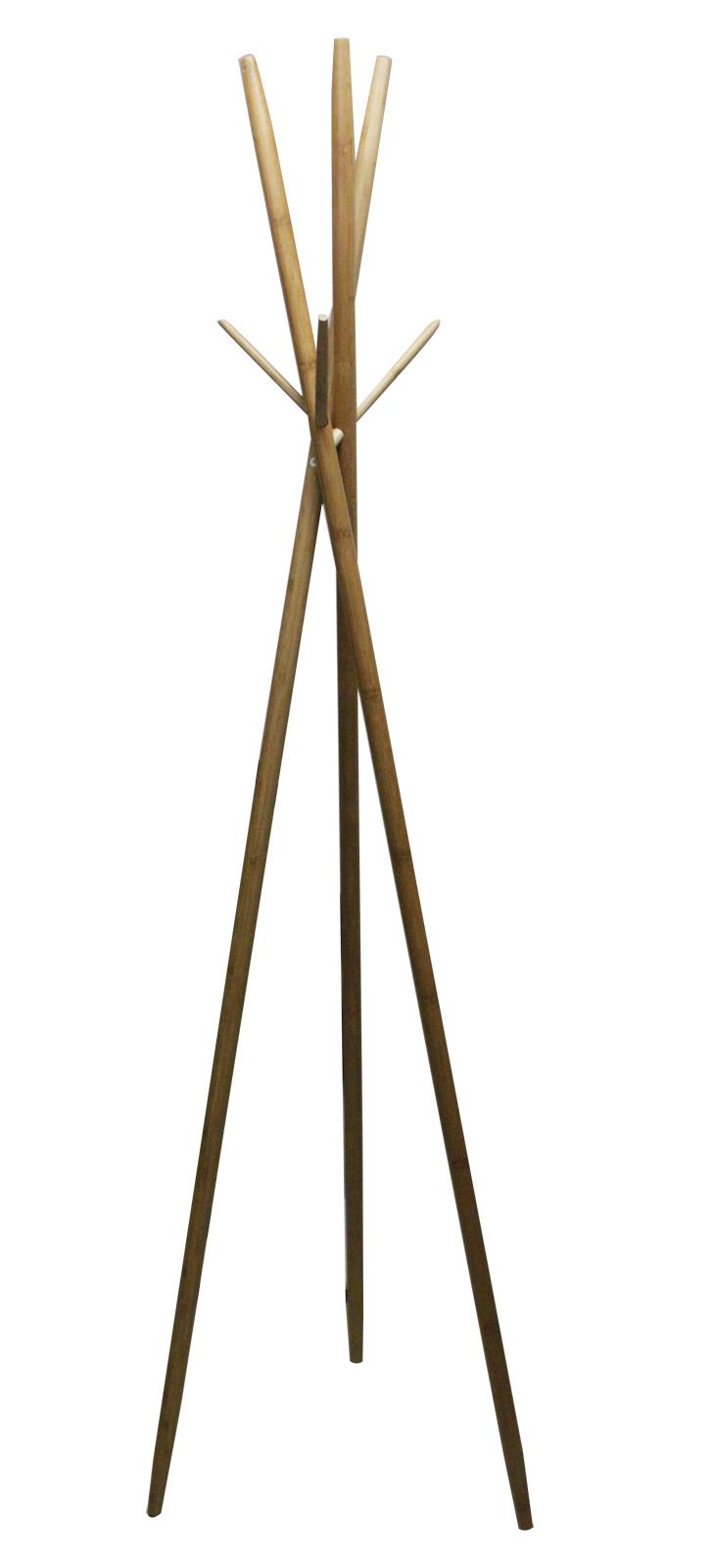 bambus garderobenst nder kleiderst nder standgarderobe holz garderobe 175cm ebay. Black Bedroom Furniture Sets. Home Design Ideas