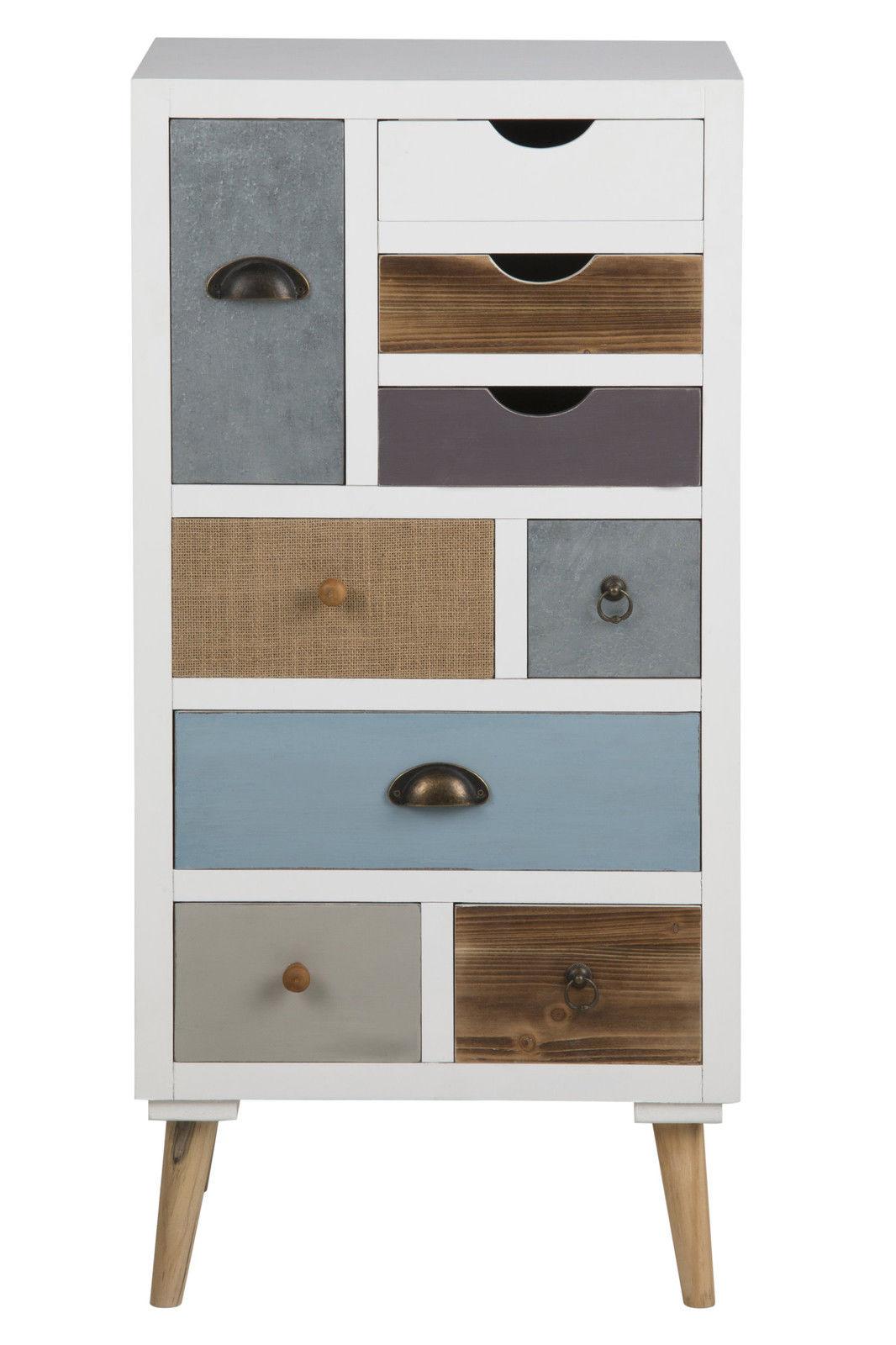 Pkline Kommode Holz Sideboard Highboard Anrichte Schubladen Schrank