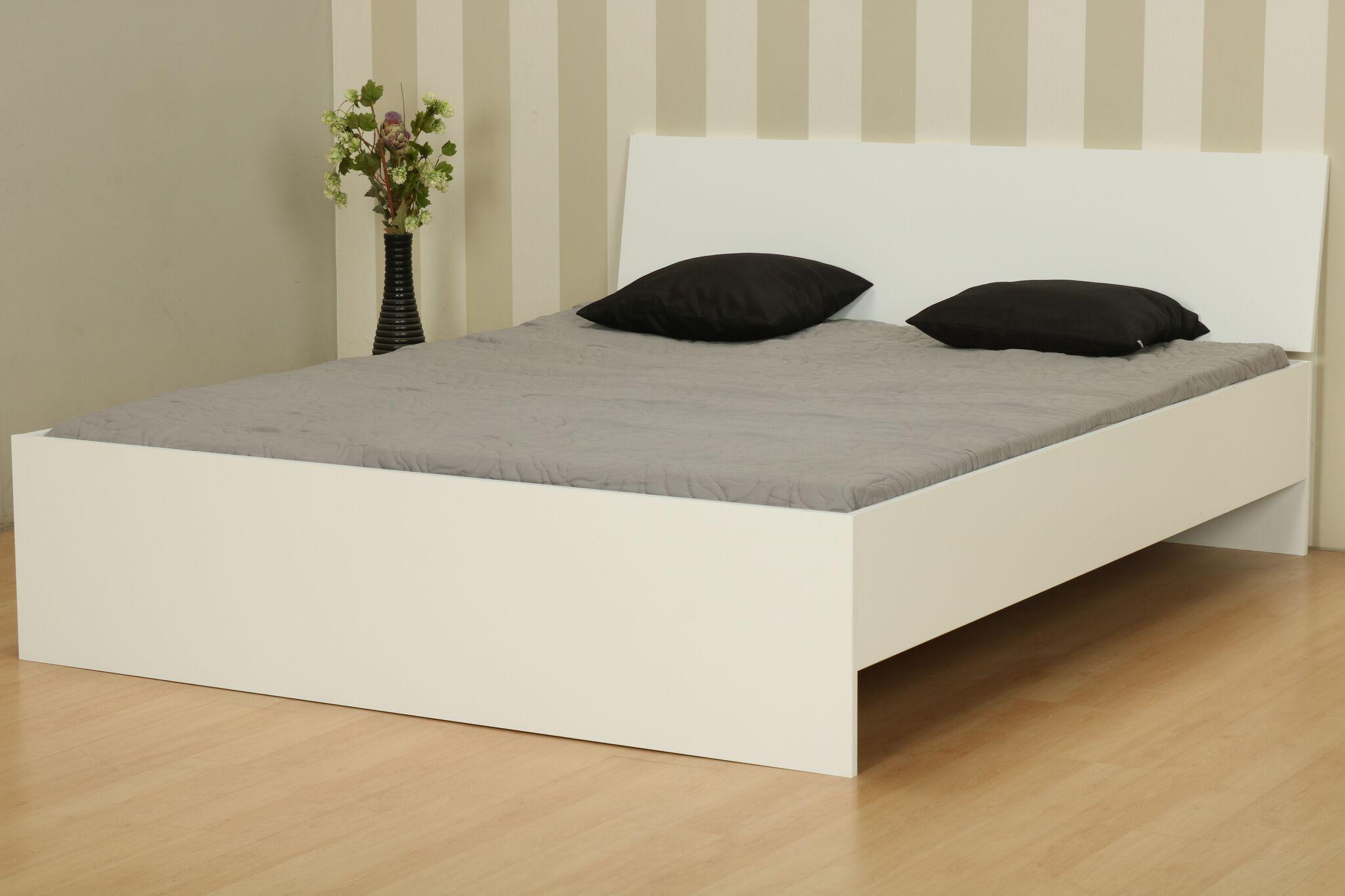 Doppelbett 160x200 Cm Ehebett Holz Bett Bettgestell Bettrahmen Jugendbett Weiß Dynamic 24de