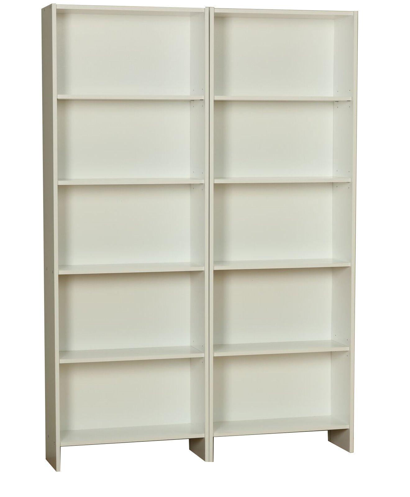 2x b cherregal section standregal wandregal wohnregal regal schrank b ro wei ebay. Black Bedroom Furniture Sets. Home Design Ideas
