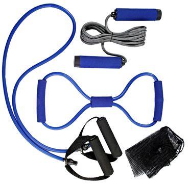 4tlg.Fitnessset Fitness Training Sport Set Springseil Widerstand Expander