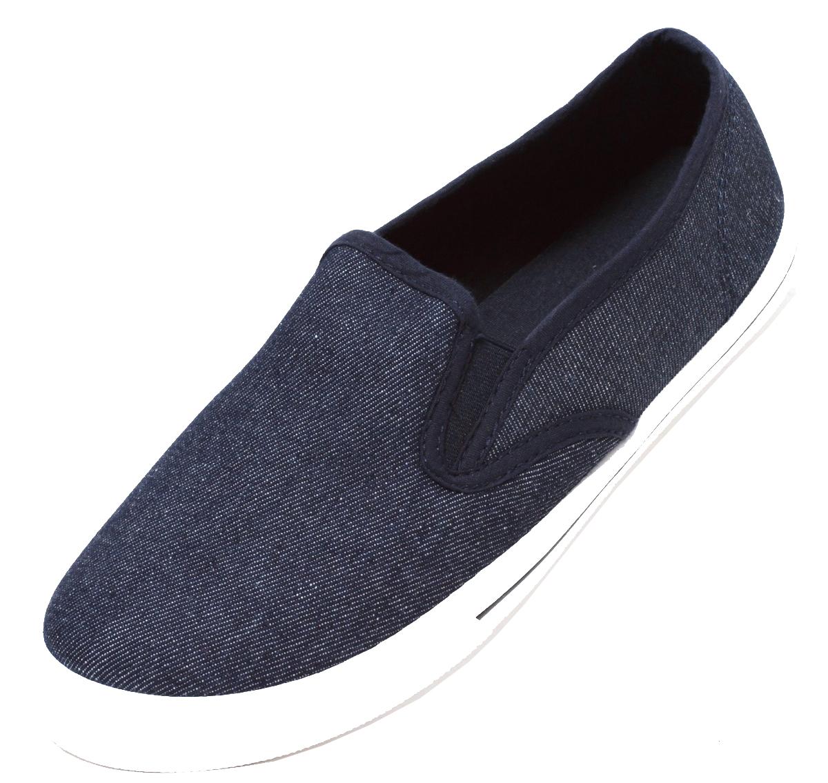 promo code 97f5b e9338 Herren Sneaker Freizeitsneaker Canvas Slipper Slip On Jeans Schuhe Denim  Blau | dynamic-24.de