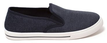 Herren Sneaker Freizeitsneaker Canvas Slipper Slip On Jeans Schuhe Denim Blau