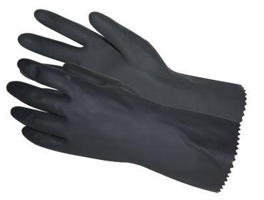 Bluestar Latex Gummi Handschuhe Gr 7 Chemikalienschutz Arbeitshandschuhe schwarz