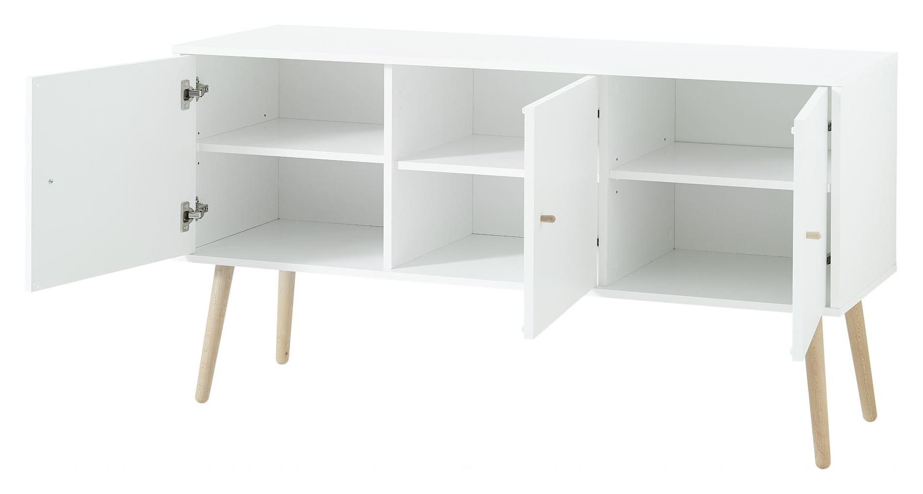 Kommode Teilmassiv Sideboard Wohnzimmer Holz Esszimmer Schrank