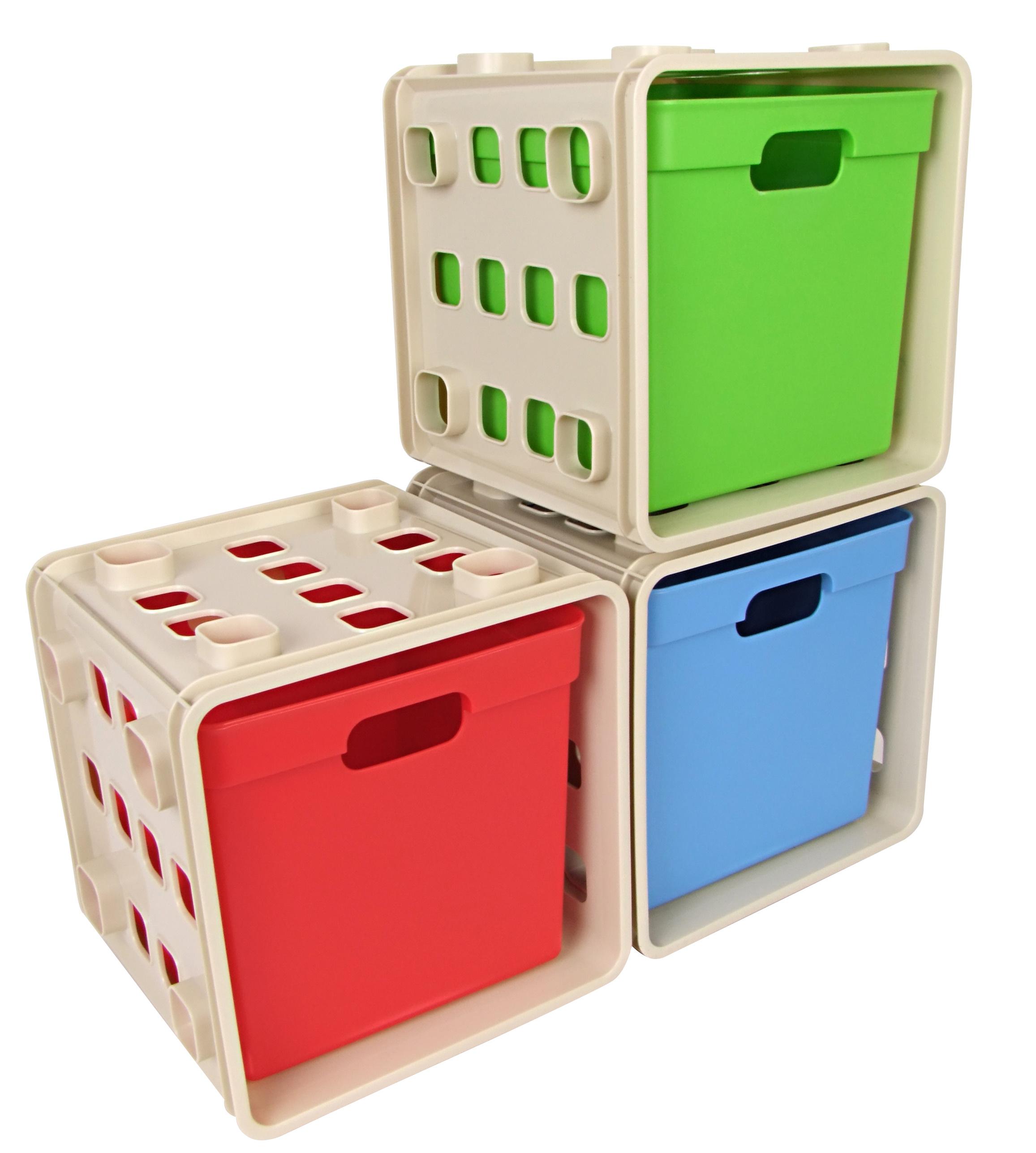 Details zu Kinder Modulregal Steckregal Kinderzimmer Regal Regalsystem  Spielzeug Kiste Box