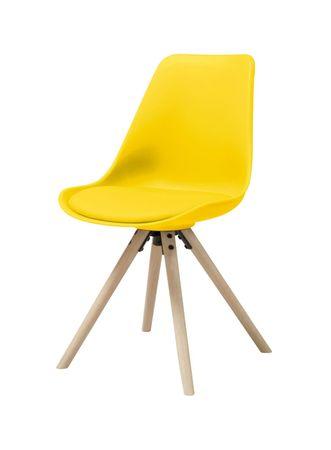 4x Esszimmerstuhl HAMMEL Stuhlgruppe Sitzgruppe Stühle Stapelstuhl gelb