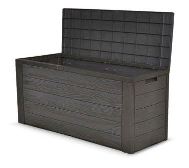 [Paket] Auflagenbox Holz Optik Gartenbox Gartentruhe Auflagen Kissenbox Gartentruhe