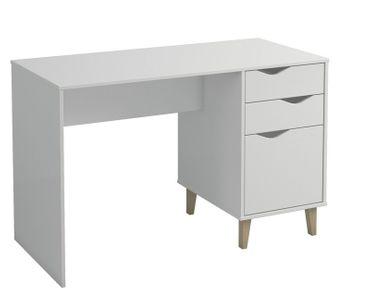 Schreibtisch SCARM 2 Schubladen Arbeitstisch Schminktisch Tisch weiß Landhaus