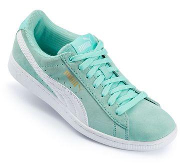 Puma Damen Vikky Sneakers türkis Turnschuhe Freizeit Sport Schuhe Platform