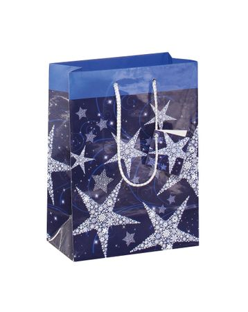 5x Sigel GT026 Papier Geschenktüten Shining Stars Weihnachten Geschenktasche