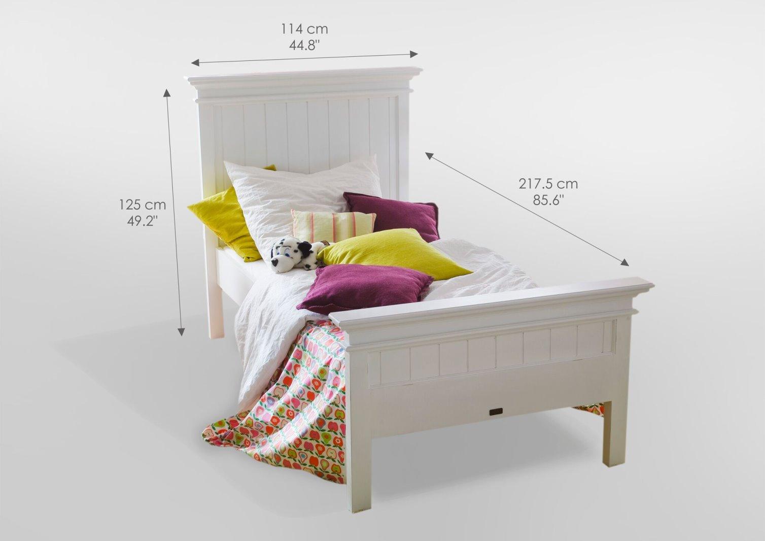 Holzbett Halifax Weiss 90x200 Bett Jugendbett Kinderbett Tagesbett
