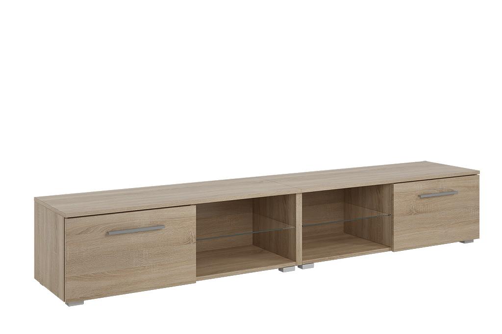 Led Tv Board Fernsehtisch 2m Sideboard Kommode Holz Lowboard Schrank