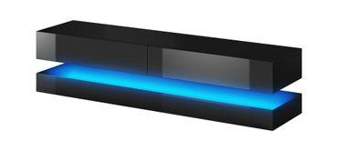 LED TV Board Schwarz Matt Hochglanz Fernsehtisch Sideboard Kommode Lowboard