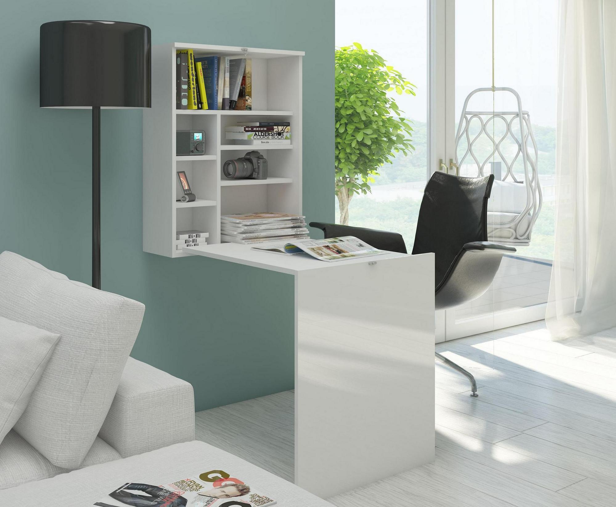 Berühmt Wand Schreibtisch weiss matt Bürotisch Tisch Arbeitstisch Esstisch QM47