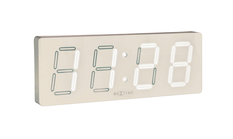 Nextime Wanduhr Tischuhr White D 51 5x18cm Led Digital Buro Uhr