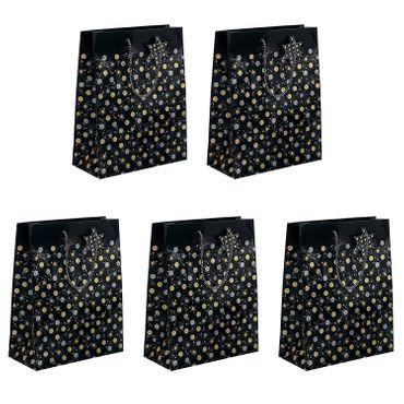 5x Sigel GT028 Papier Geschenktüten Stardust Weihnachten Geschenktasche Tüte