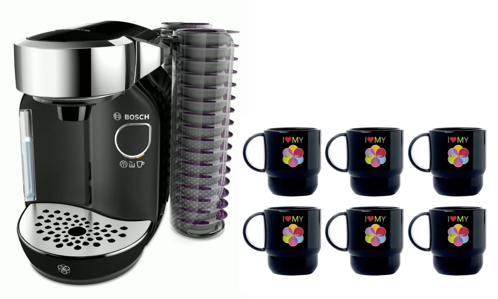 [Paket] Bosch TASSIMO Caddy + 20 EUR Gutscheine* + 6x Tupper Becher Kaffee Maschine