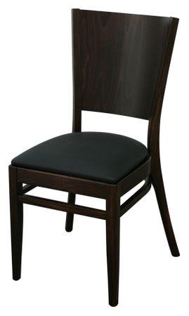 8x KONWAY Indoor Holz Stuhl Set FLAT Stapelstuhl Gastronomie Objektstuhl Stühle