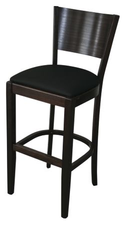 4x KONWAY Indoor Holz Barhocker FLAT Hocker Gastronomie Objektstuhl Bar Stuhl
