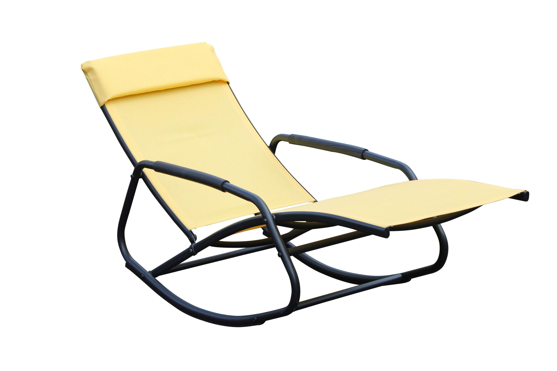 Leco Schaukelsessel Schaukelliege Sonnenliege Garten Liege Sessel