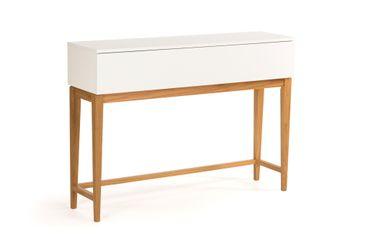 Konsolentisch Blance Eiche weiß teilmassiv Schminktisch Beistelltisch Tisch