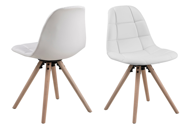 Lonnie Design Stuhl Esszimmerstuhl Küchenstuhl Wohnzimmerstuhl Stühle WeißDynamic 4x xBoeCrd