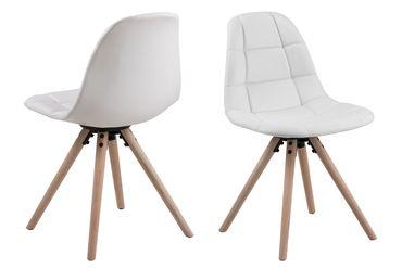 4x Design Esszimmerstuhl Lonnie Küchenstuhl Wohnzimmerstuhl Stuhl Stühle weiß