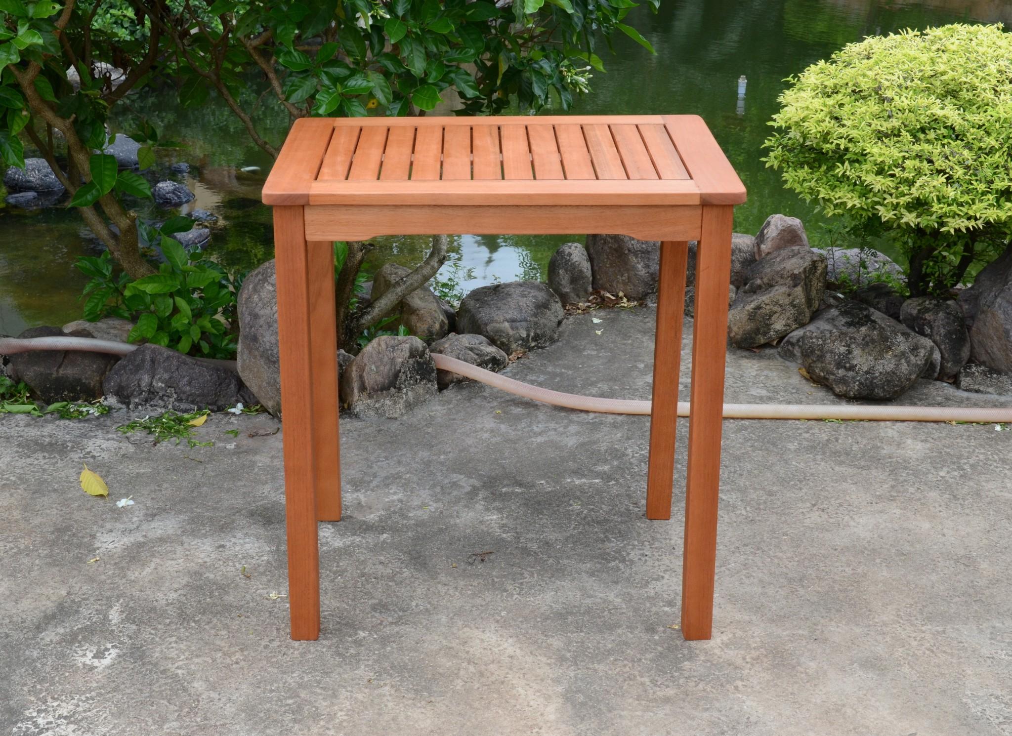 Garten Eukalyptus Tisch 70x50 Gartentisch Holztisch Holz Massiv