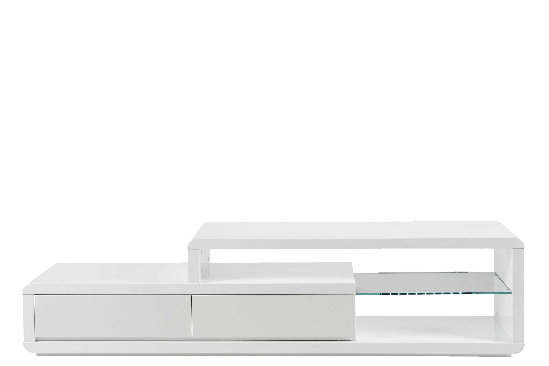 Design LED TV Tisch Sideboard Lowboard Fernsehschrank Schrank weiß  Hochglanz | dynamic-24.de