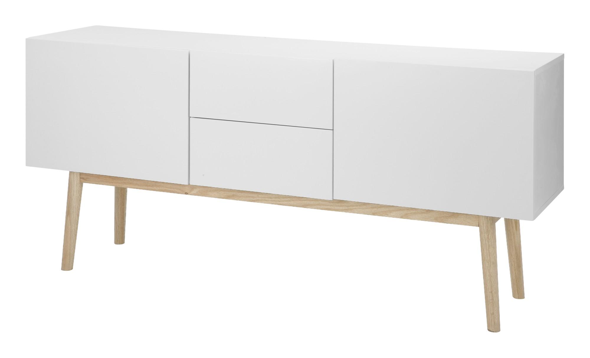 Kommode Bern Sideboard Highboard Anrichte Wohnzimmer Schrank Eiche weiß |  dynamic-24.de