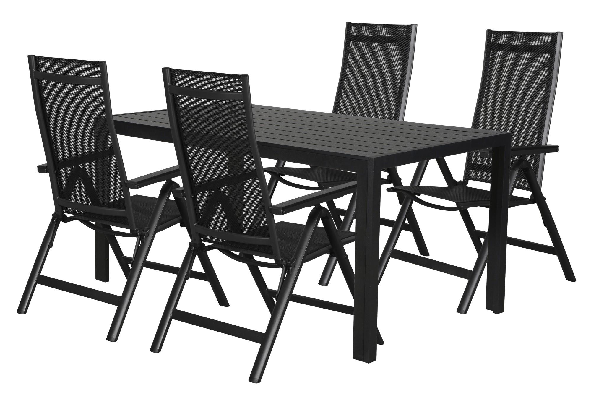 Gartenmöbel Set Cult Garten Tisch 4 Stühle Polyrattan Esstisch Stuhl Schwarz Dynamic 24 De
