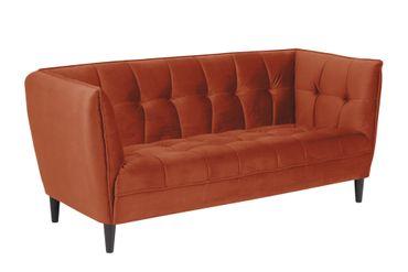 Sofa Jon 2,5 Personen orange schwarz Couch Wohnzimmer Polstersofa Garnitur