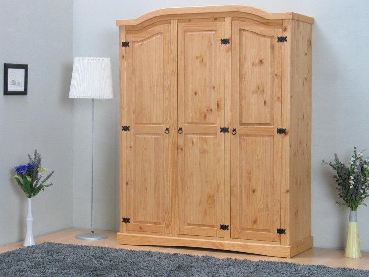Kleiderschrank New Mexiko Mexico Holz Schlafzimmer Schrank Kiefer ...