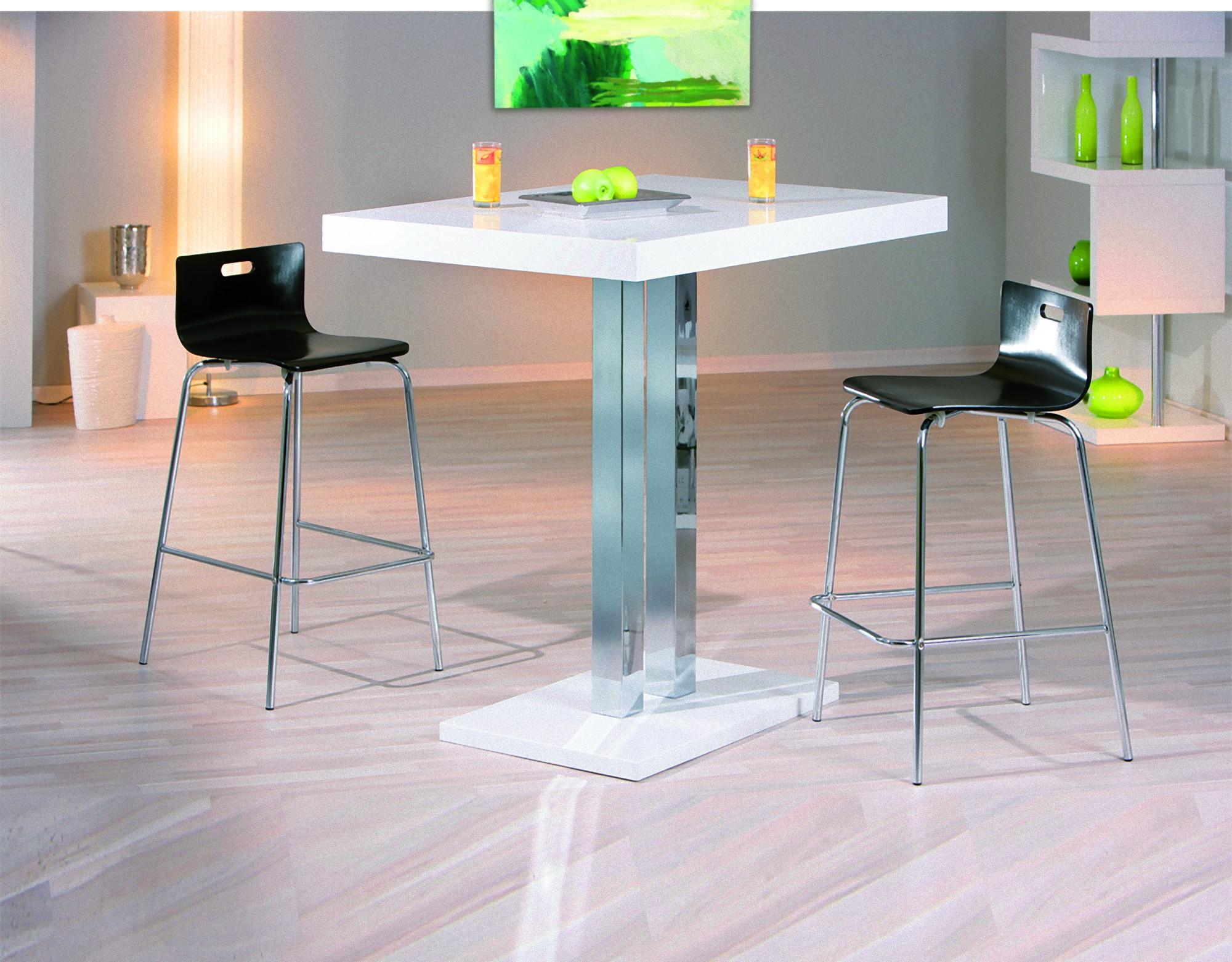 Details zu Bartisch Palvam weiss Hochglanz Bar Hochtisch Stehtisch Tisch  Küche Tresen