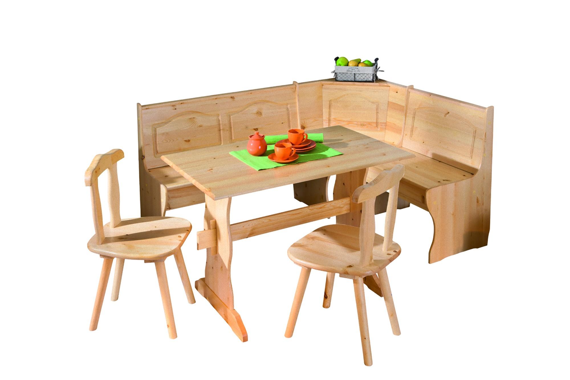 Holz Landhaus Sitzgruppe Tidor Eckbank natur Küche Esszimmer Küche  Essgruppe  dynamic-16.de