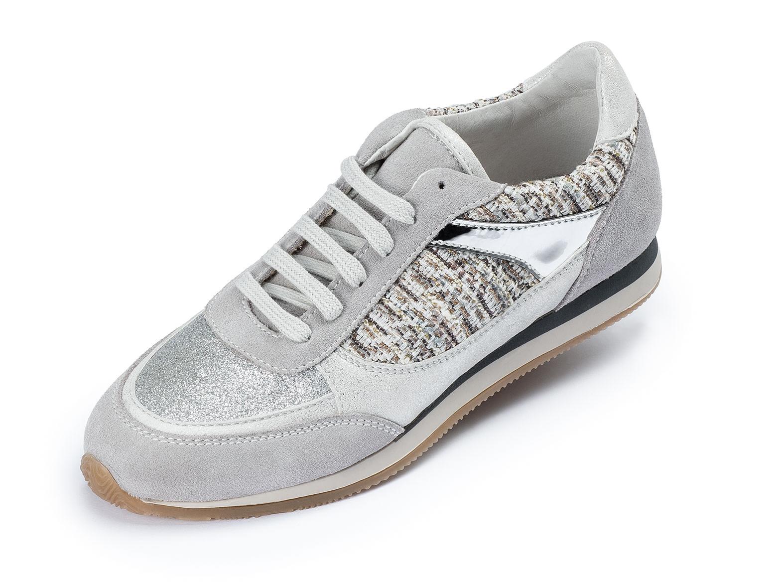 innovative design 7f6c2 d1a4c Damen Leder Casual Sneaker Halbschuhe Freizeit Sport Schuhe Schnürschuhe  grau   dynamic-24.de