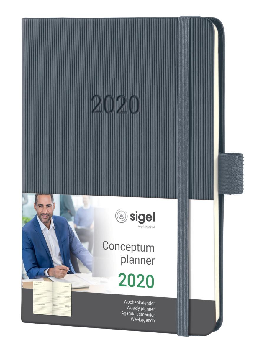 Details Zu Sigel Wochenkalender 2020 Conceptum C2067 Hardcover A6 Notiz Kalender Dunkelgrau