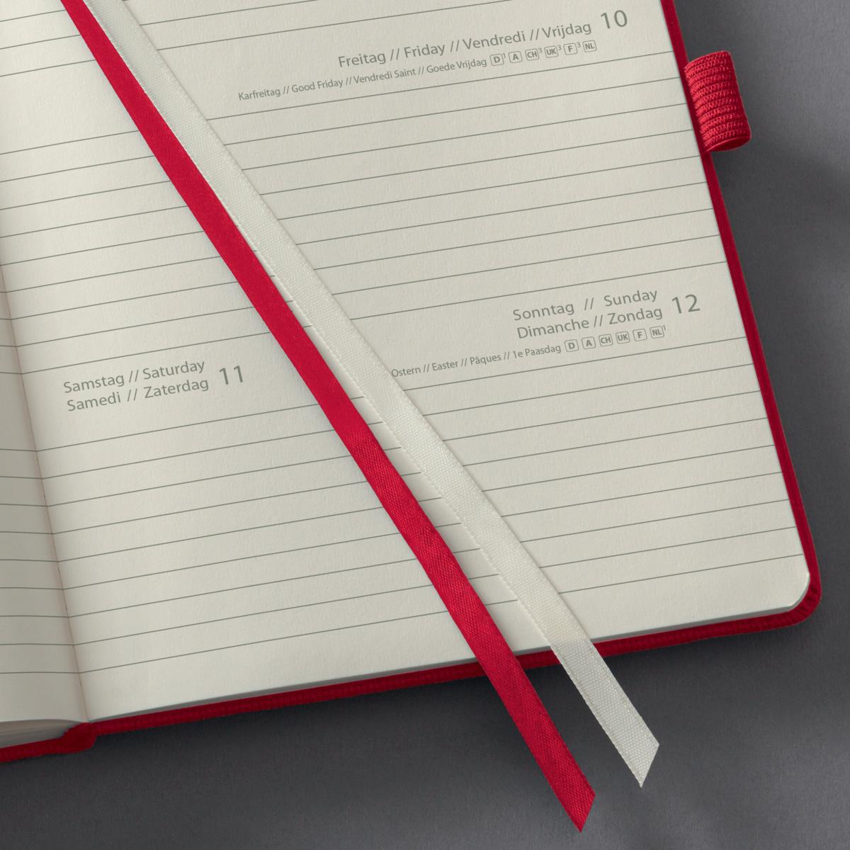 SIGEL Wochenkalender Conceptum 2020 ca.A5 Hardcover red C2064