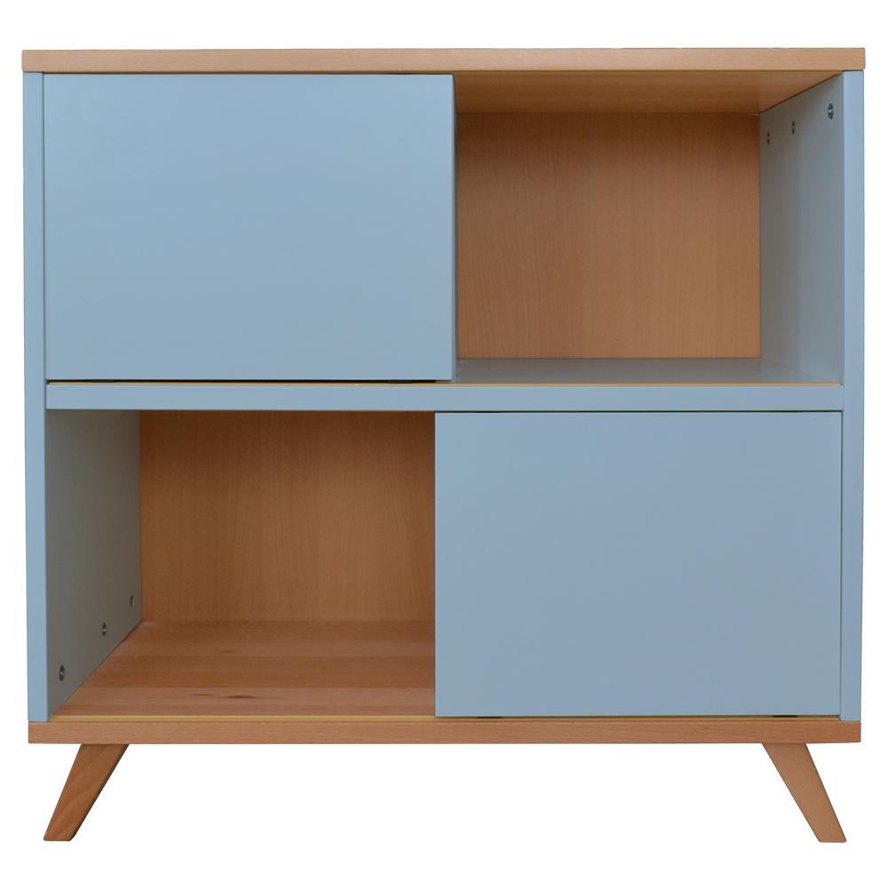 Kommode Sideboard Kinderzimmer Schrank Highboard Regal Standregal Buche Blau Dynamic 24 De