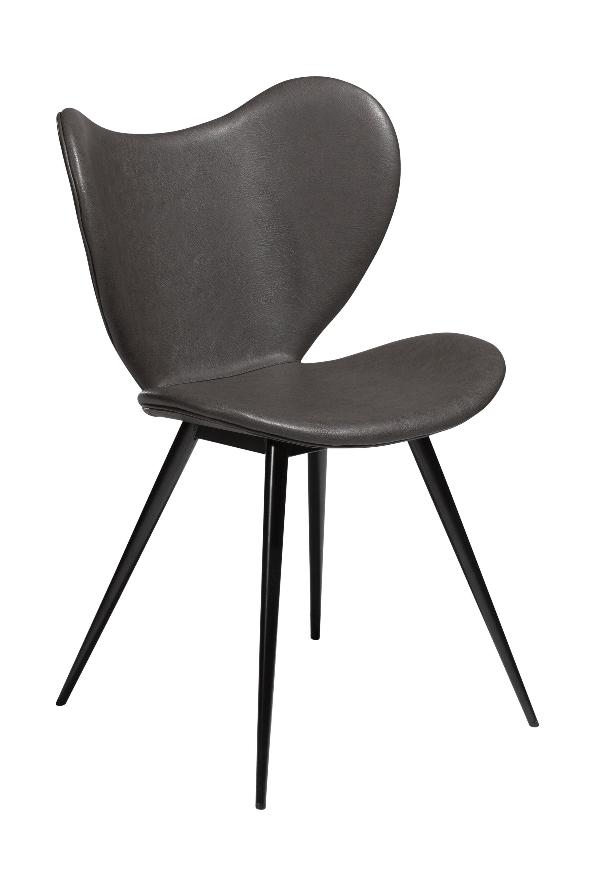 2x design esszimmerstuhl kunstleder küche stuhl stühle set esszimmer grau |  dynamic-24.de
