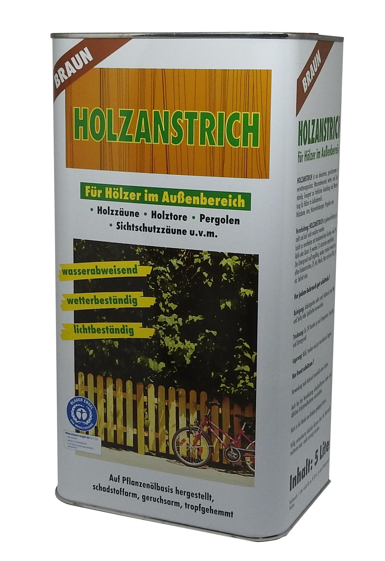 5 L Holzanstrich natürlich Pflanzenölbasis Holzschutz Farbe Lasur Wetterschutz